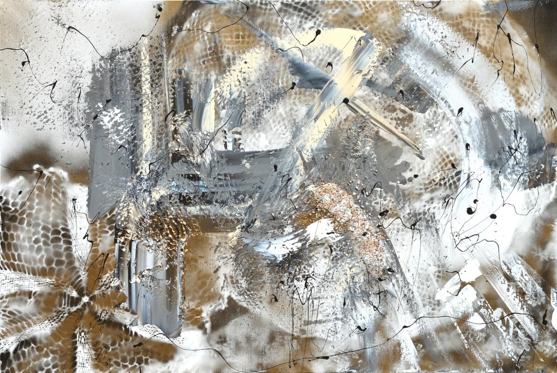 Tiny De Bruin - Golden gray abstract